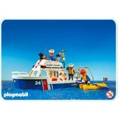 Playmobil 3599 Bateau Des Gardes C�te