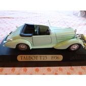 Talbot T23 Cabriolet Ouvert 1936 - Solido (France) - 1/43e Solido Age D'or - Echelle 1/43 - Solido (France) - Mod�le En M�tal Mod�le Vintage D'�poque - Made In France