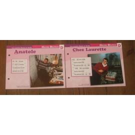 lot de 2 fiches chansons atlas MICHEL DELPECH ; anatole et chez Laurette