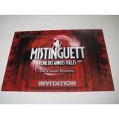Carte Invitation Pr�sentation Chansons Du Spectacle Mistinguett Ann�es Folles