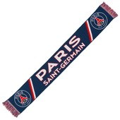 Echarpe Psg - Collection Officielle Paris Saint Germain - Football - Taille 138 Cm - Blason Maillot