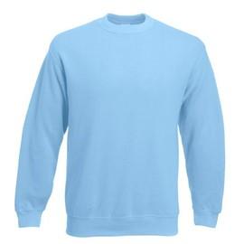Sweat Shirt Couleur Bleu Ciel - Fruit Of The Loom