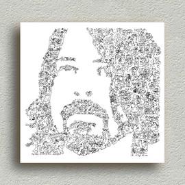 Dave Grohl - Nirvana Foo Fighters Grunge - Portrait biographique - Print en edition limitée de 100 - Poster post grunge