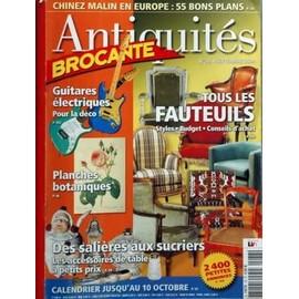 ANTIQUITES BROCANTE N° 78 DU 01/09/2004 - TOUS LES FAUTEUILS GUITARES ELECTRIQUES - POUR LA DECO PLANCHES BOTANIQUES DES SALIERES AUX SUCRIERS - ACCESSOIRES DE TABLE CHINEZ MALIN EN EUROPE - 55 BONS PLANS