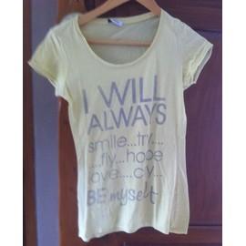 T-Shirt Jaune Pimkie T S Comme Neuf