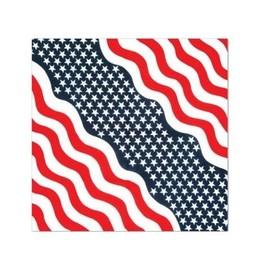 Bandana Coton Drapeau Patriote Etats-Unis Americain Usa 55 X 55 Cm Foulard Motard Biker Stars Stripes