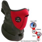 Cagoule/ Masque Facial / Protection Visage (N�opr�ne) Et Cou + Oreilles (Polaire) - Id�ale Pour : Ski / Snowboard / V�lo / Moto / Roller / Trekking / Randonn�e / Airsoft / Sport Nature / Etc...