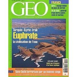 Geo 2002 (N�282) Euphrate - La Civilisation De L'eau - Turquie - Syrie Et Irak - Inde - New Delhi - Le Gers - Ile De Sein.
