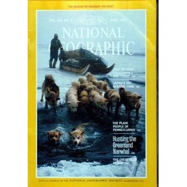 NATIONAL GEOGRAPHIC N° 165 DU 01/04/1984 - EAST OF EDEN - CALIFORNIA'S MID-COAST - JAPAN'S IZU OCEANIC PARK - THE PLAN PEOPLE OF PENNSYLVANIA HUNTING THE GREENLAND NARWHAL - THE GREAT BLUE HERON.