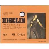 Ticket Jacques Higelin Casino De Paris 09/83
