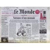 Monde (Le) N� 16566 Du 02/05/1998 - Naisssance D'une Monnaie - Mai 68 - 98 - Le Pacte De La Vie A Deux - Mis En Examen - Rolad Dumas Est Place Sous Surveillance Par La Justice - Le Viagra.