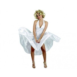 D�guisement Robe Blanche Actrice Chanteuse Marilyn Monroe - Femme - Xl