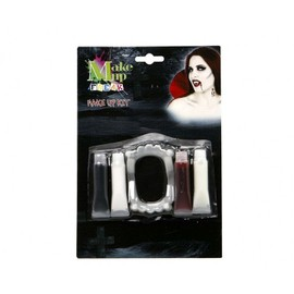 Kit Maquillage Vampire Canines, Cr�me Et Faux Sang