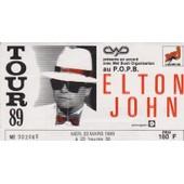 Ticket Elton John Tour 89 Popb
