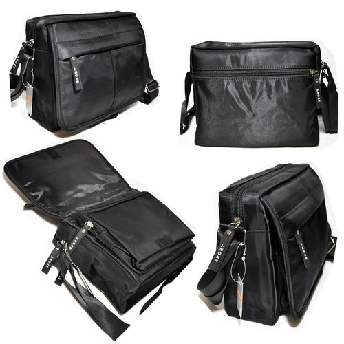 79914f0ec0 Sacoche sac A bandoulière porte A Epaule en toile nylon noir femme homme  neuf 0524
