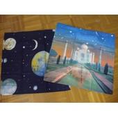 2 Taies Phosphorescente Fluorescentes Lucioles Neuves Taj Mahal Et Cosmos