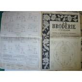 1953 1 Mars No 1093 La Broderie Lyonnaise Point Croix Point Croix Magazine Ancien de La Broderie Lyonnaise
