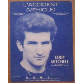 Partition feuillet L'accident (Vehicle) - eddy Mitchell