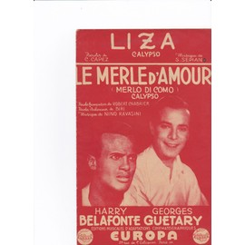 "Harry Belafonte Georges Guetary ""Liza"""
