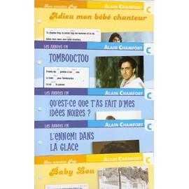 lot de 5 fiches chansons atlas ALAIN CHAMFORT : Tombouctou , qu'est ce que t'as fait d'mes idéees noires ? , l'ennemi dans la glace , Baby Lou , adieu mon bébé chanteur