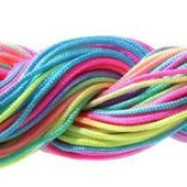 26 M�tres Fil Nylon Multicolore Cordon Macrame Pour Bracelet Shamballa Perle Bijou 1mm De Diam�tre