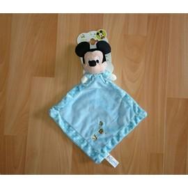 Doudou Mickey Bleu Nicotoy Disney Pois Blanc Souris Lange Bleu Ciel Coccinelle Tortue Lapin Simba Dickie Group Jouet Bebe Naissance Mixte