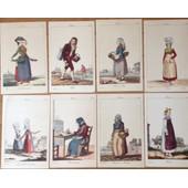 8 Illustrations Reproductions De Scenes Populaires