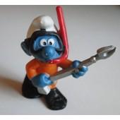 Figurine Stroumpf, Schtroumf - Peyo Schleich - Chasse Sous Marine, Plong�e