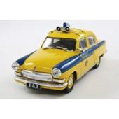 V�hicule Miniature 1/43 De Police Sovietique Russe Gaz Volga 21p Officielle