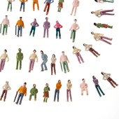 Lot De 100 Personnages Figurines Ideal Modelisme Maquette Echelle Ho 1:75 Neuf
