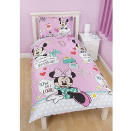 Parure De Lit Minnie Mouse Makeover Disney - Enfants