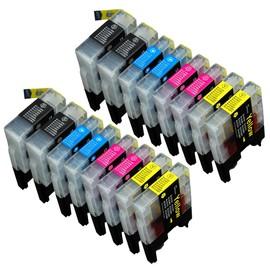 10 X Cartouche D'encre Avec Puce Compatible Brother Pour Imprimantes Mfc-J4410dw, Mfc-J4510dw, Mfc-J4610dw, Mfc-J4710dw, Mfc-J6520dw, Mfc-J6720dw, Mfc-J6920dw, Dcp-J4110dw, Mfc-J2310, Mfc-J2510.