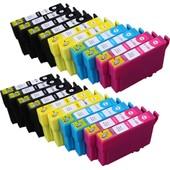 20 X Cartouche D'encre Avec Puce Compatible Epson C13t12854010, T1285 Pour Imprimantes Stylus Office Bx305fw, Stylus Office Bx305fw Plus, Stylus S22, Stylus Sx125, Stylus Sx130, Stylus Sx230