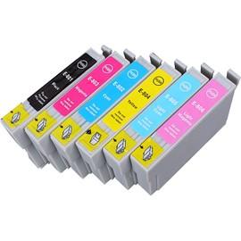 6 X Cartouche D'encre Avec Puce Compatible Epson C13t08074011, T0807 Pour Imprimantes Stylus Photo P50, Stylus Photo Px660, Stylus Photo Px700w, Stylus Photo Px710w, Stylus Photo Px720wd, Stylus P