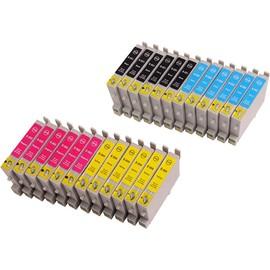 24 X Cartouche D'encre Avec Puce Compatible Epson C13t05564010, T0556 Pour Imprimantes Stylus Photo R240, Stylus Photo R245, Stylus Photo Rx425, Stylus Photo Rx520, Stylus Photo Rx420. C13t0551401