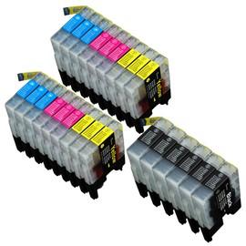 24 X Cartouche D'encre Compatible Brother Lc1220, Lc1240 Pour Imprimantes Mfc-J6510dw, Dcp-J525w, Dcp-J725dw, Dcp-J925dw, Mfc-J430w, Mfc-J5910dw, Mfc-J625dw, Mfc-J6710dw, Mfc-J6910dw, Mfc-J825dw. L