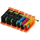6 X Cartouche D'encre Avec Puce Compatible Lexmark 100, 100xl Pour Imprimantes Genesis S815, Impact S305, Interact S602, Interact S605, Interpret S402, Interpret S405, Intuition S505, Pinnacle Pro