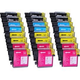 24 X Cartouche D'encre Compatible Brother Lc1100, Lc980, Lc985 Pour Imprimantes Mfc-5890cn, Dcp-385c, Dcp-165c, Dcp-145c, Dcp-163c, Dcp-167c, Dcp-185c, Dcp-195c, Dcp-197c, Dcp-365cn, Dcp-373cw, Dcp