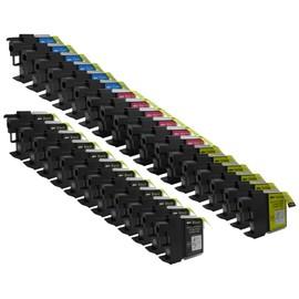 30 X Cartouche D'encre Compatible Brother Lc1100, Lc980, Lc985 Pour Imprimantes Mfc-5890cn, Dcp-385c, Dcp-165c, Dcp-145c, Dcp-163c, Dcp-167c, Dcp-185c, Dcp-195c, Dcp-197c, Dcp-365cn, Dcp-373cw, Dcp