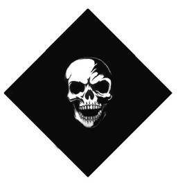 Bandana Coton Crane / Tete De Mort / Skull 55 X 55 Cm