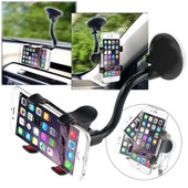Insten� Support Ventouse Rotatif 360� Degr�s Fixation Pare-Brise Voiture Pour Smartphone T�l�phone Mobile Portable Iphone Samsung Nokia Blackberry Htc Lg Motorola, Largeur : 3,5 - 9 Cm, Noir