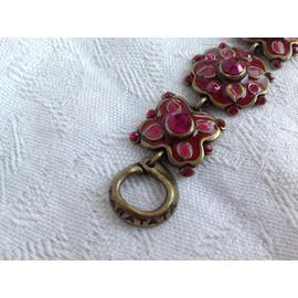 Bracelet Taratata �mail Et Cristal Fuchsia