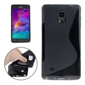 Galaxy Note 4 : Coque Housse Silicone Gel (Tpu) S-Line Noir