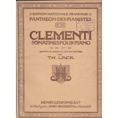 Clementi Sonatines Pour Piano Op : 36,37,38