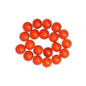 100 X Perle En Verre Givr� 6mm Orange Brique