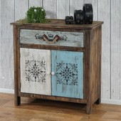 Commode Funchal Armoire Table D'appoint, Vintage, Shabby Chic, 84x80x40cm
