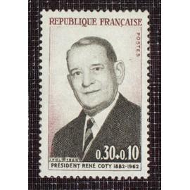 FRANCE N° 1412 neuf sans charnière de 1964 - 30c+10c « 2ieme anniversaire de la mort du président René Coty »
