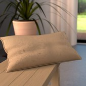 Coussin Rectangulaire Cosy Beige Or