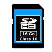 Carte m�moire SD SDHC 16 Go Gb classe 10 appareil photo t�l�phone