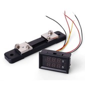 DC 300V Voltmeter Ammeter Red Blue LED Panel Amp Digital Volt Gauge YB27VA TE72